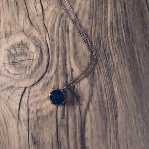 Baublebar Blue Druzy Pendant Necklace